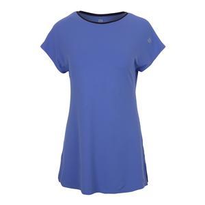 Women`s Foundation Short Sleeve Tennis Top Baja Blue