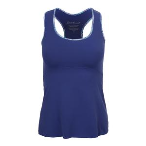 Women`s Racerback Tennis Top Blue