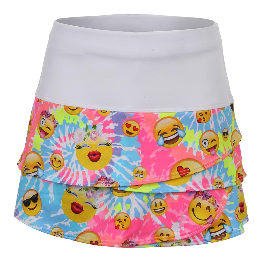 Girls'scallop Tennis Skort Tie- Dye Groove