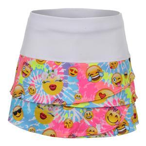 Girls` Scallop Tennis Skort Tie-Dye Groove