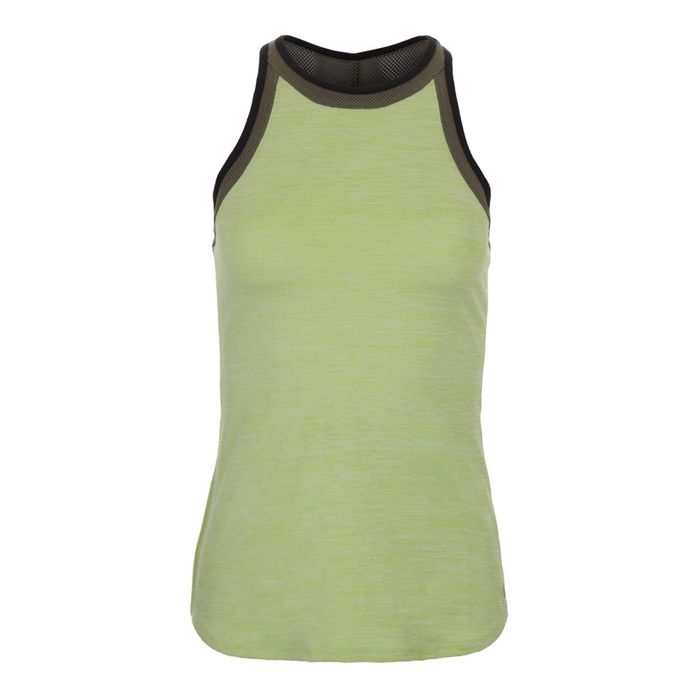 Women's High Top Tennis Tank Pear Green And Sage