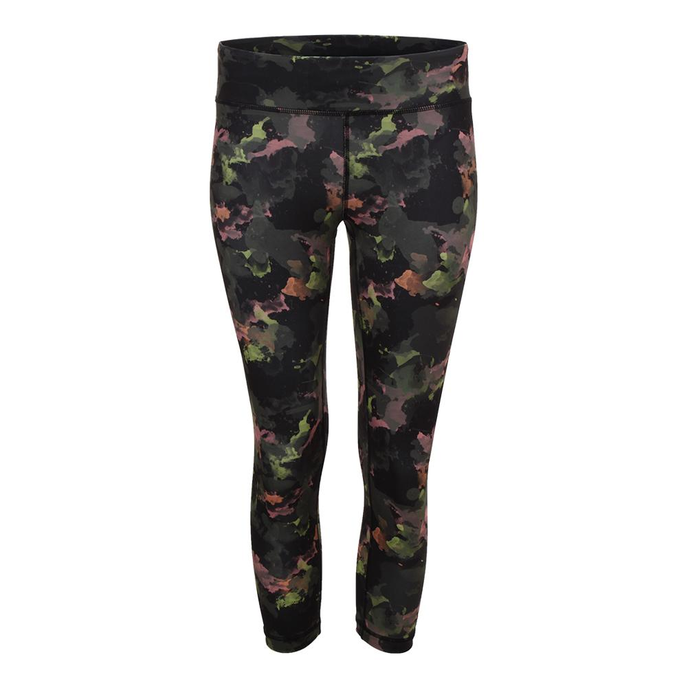 Women's No Fear Tennis Capri Water Camo