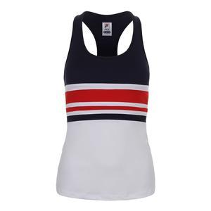 Women`s Heritage Racerback Tennis Tank White