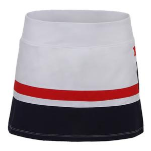 Women`s Heritage Striped 13.5 Inch Tennis Skort White and Navy