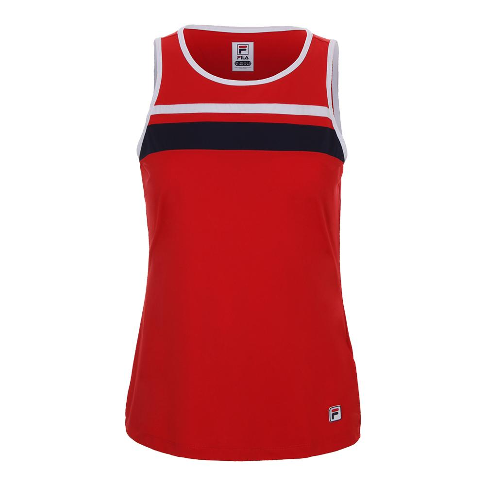 Women's Heritage Tennis Tank Chinese Red And White