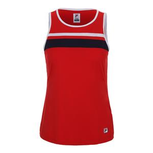 Women`s Heritage Tennis Tank Chinese Red and White