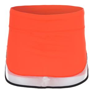 Women`s Mesh Border Tennis Skort Orange Glow