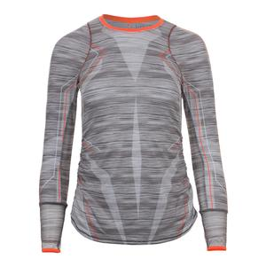 Women`s Intense Long Sleeve Tennis Crew Charcoal