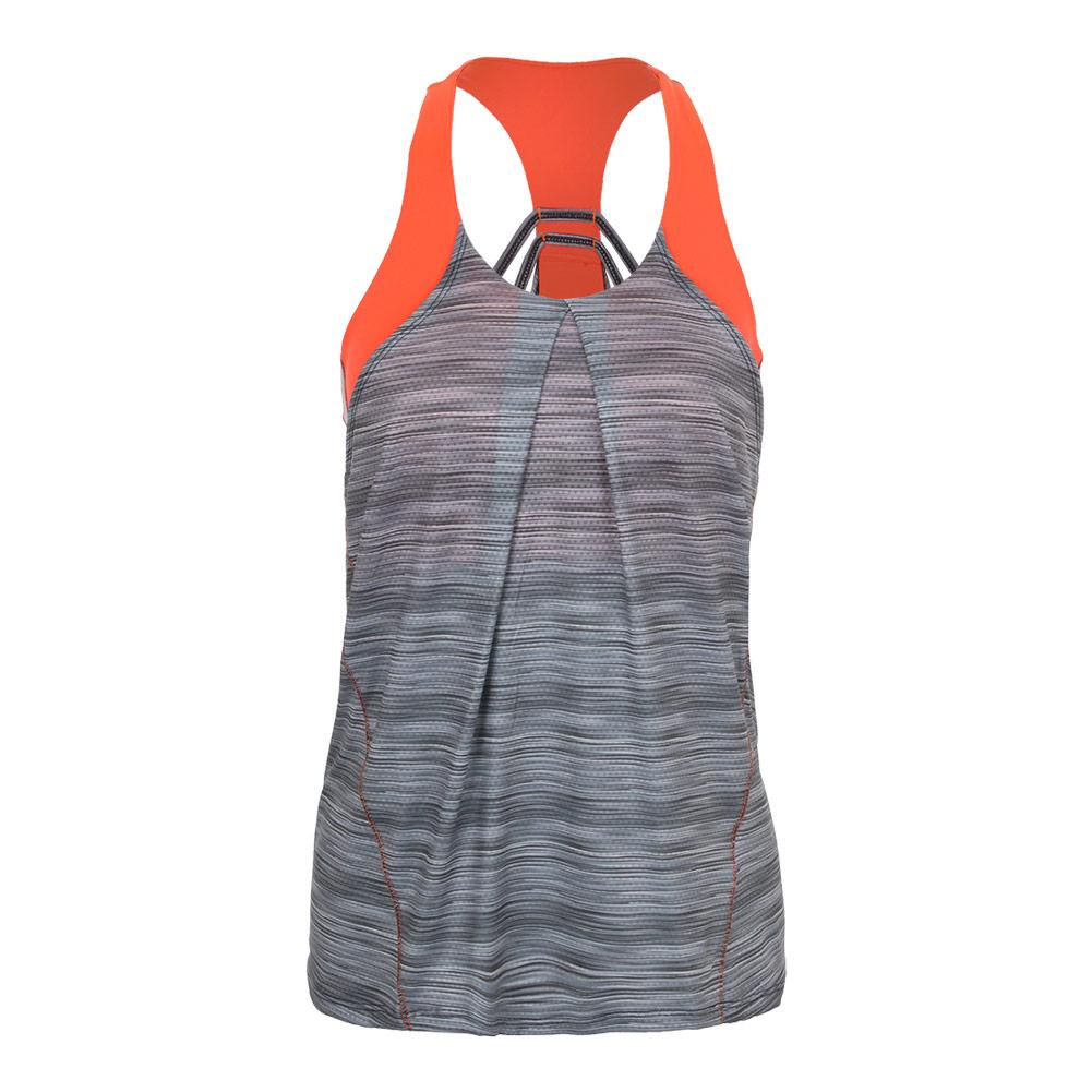 Women's Zion Bralette Tennis Tank Charcoal