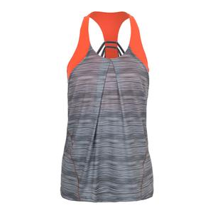 Women`s Zion Bralette Tennis Tank Charcoal