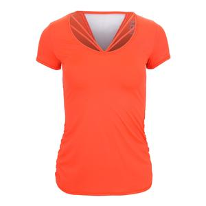 Women`s Contour Strappy Tennis Tee Orange Glow