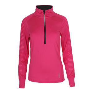 Women`s Chianti Long Sleeve Tennis Top Lipstick