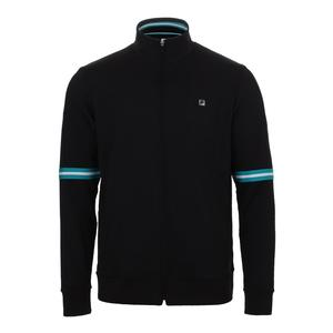 Men`s Set Point Tennis Jacket Black and Lake Blue