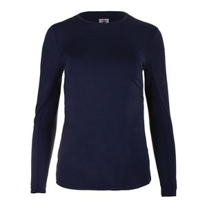Women`s UV Blocker Long Sleeve Tennis Top Navy
