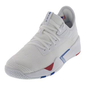 Men`s SI-2018 Retro Shoes Blue and High Risk Red