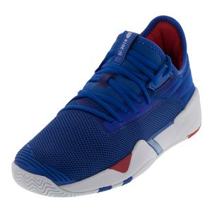 Men`s SI-2018 Retro Shoes Blue and White
