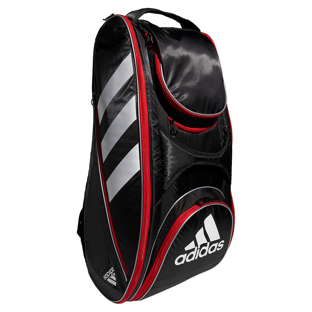 Tennisexpress Tour Tennis 12 Racquet Bag Black and Scarlet