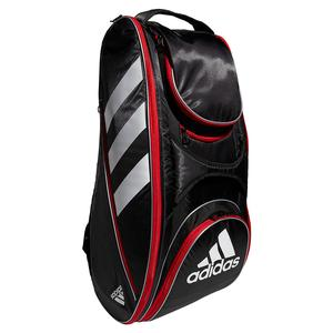 Tour Tennis 12 Racquet Bag Black and Scarlet