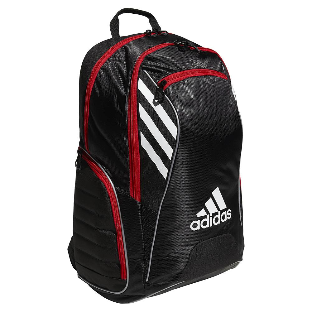 Tour Tennis Racquet Backpack Black And Scarlet