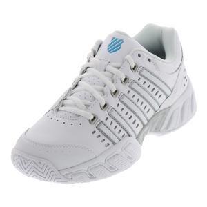 Women`s Bigshot LTR Tennis Shoes White and Hawaiian Ocean