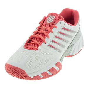 Juniors` Bigshot Light 3 Tennis Shoes White and Calypso Coral