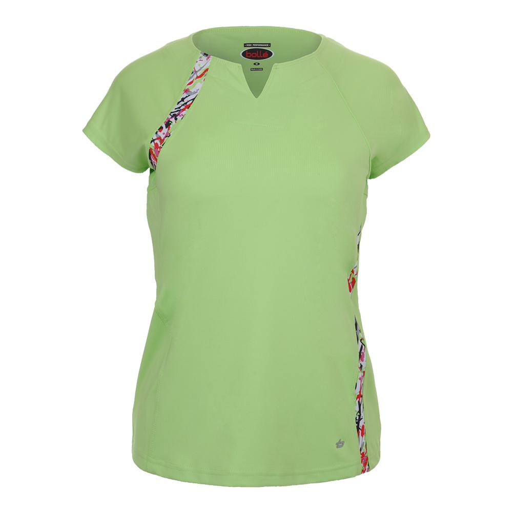 Women's Capri Cap Sleeve Tennis Top Lime
