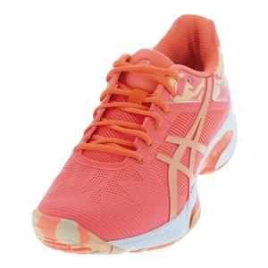 Women`s Gel-Solution Speed 3 LE Tennis Shoes Flash Coral and Cateloupe