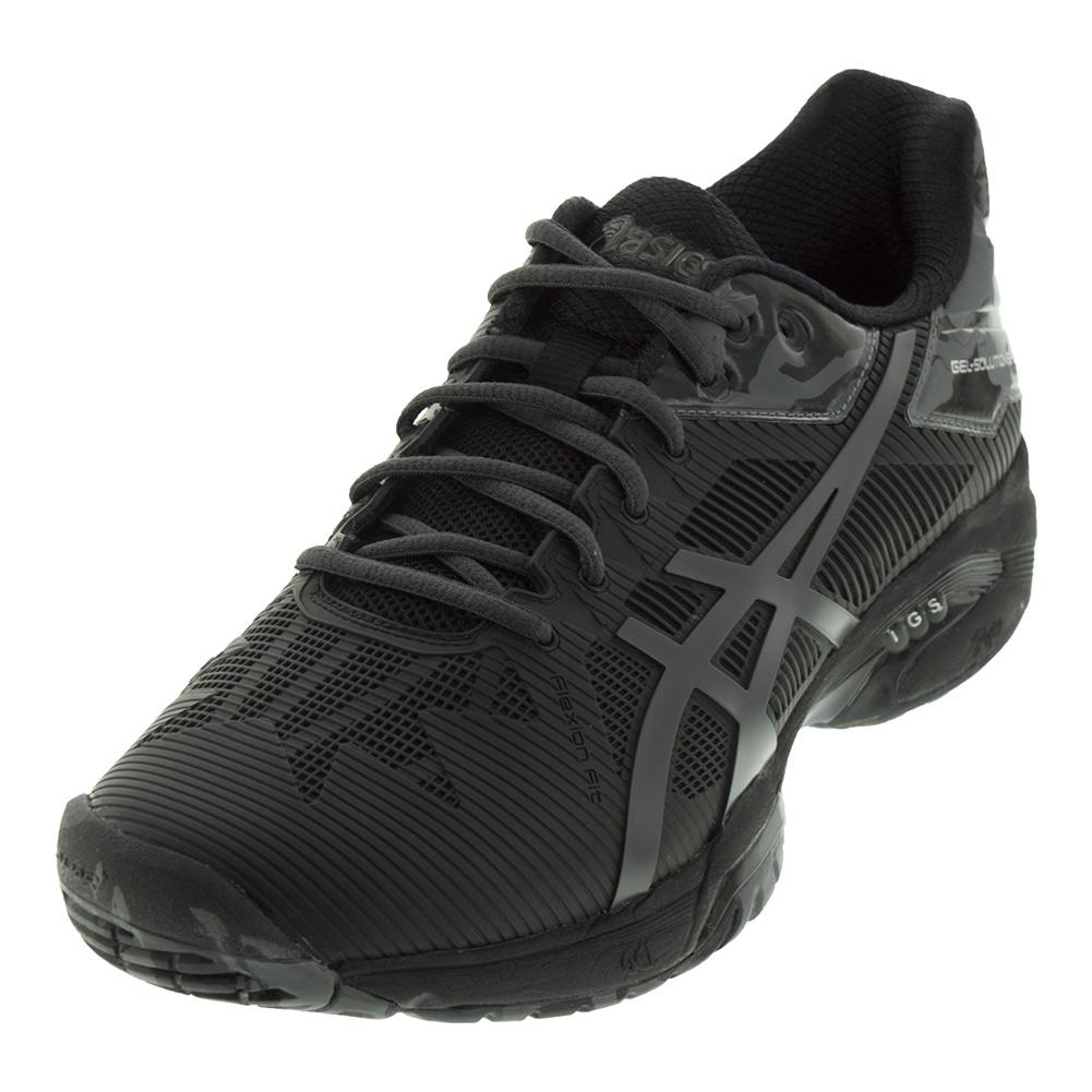 Men's Gel- Solution Speed 3 Le Tennis Shoe Black And Dark Gray