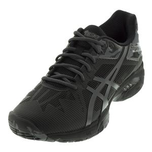 Men`s Gel-Solution Speed 3 LE Tennis Shoe Black and Dark Gray