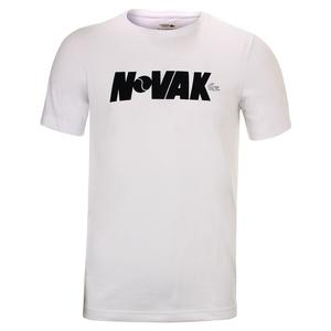 Boys` Novak Fan Writing Print Tennis Tee