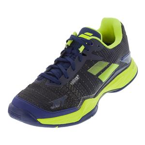 Men`s Jet Mach 2 All Court Tennis Shoes Estate Blue and Fluo Yellow