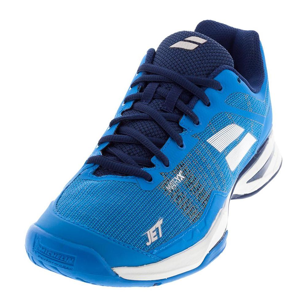 Men's Jet Mach 1 All Court Tennis Shoes Diva Blue And White