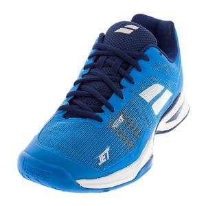 Men`s Jet Mach 1 All Court Tennis Shoes Diva Blue and White