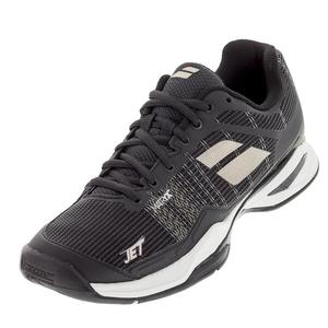 Men`s Jet Mach 1 All Court Tennis Shoes Black and Champagne