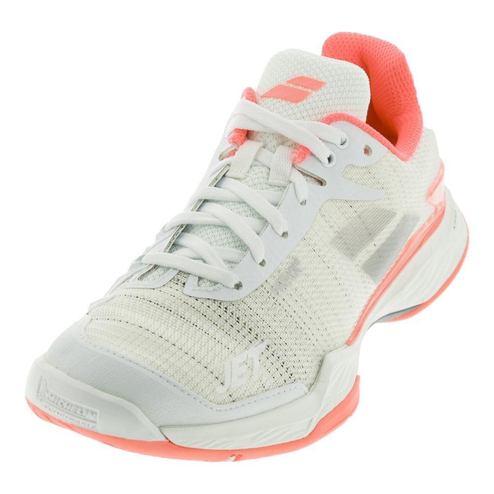 Women's Jet Mach 2 Tennis Shoes White And Fluo Pink
