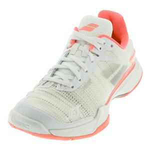 Women`s Jet Mach 2 Tennis Shoes White and Fluo Pink