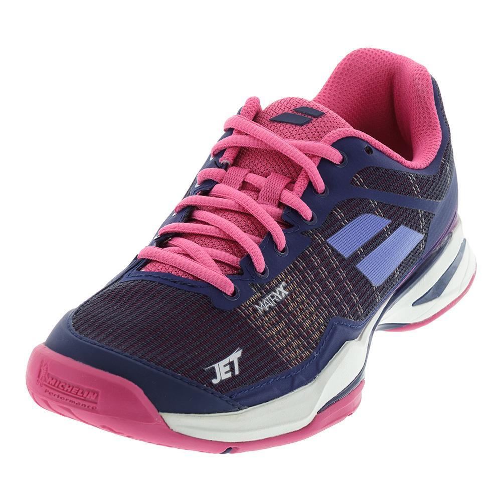 Women's Jet Mach 1 All Court Tennis Shoes Estate Blue And Fandango Pink