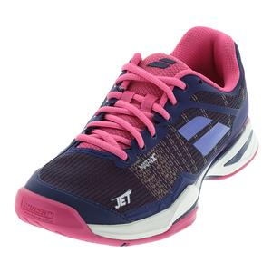 Women`s Jet Mach 1 All Court Tennis Shoes Estate Blue and Fandango Pink