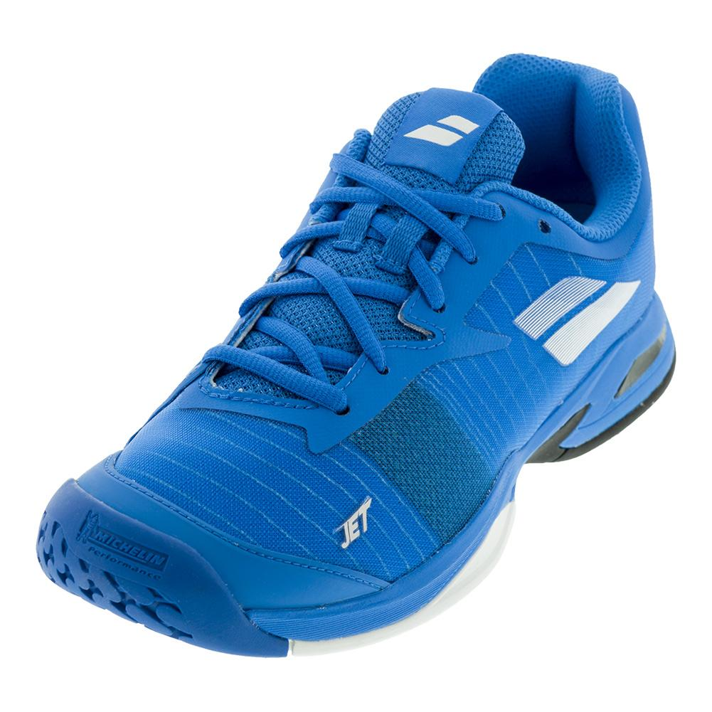Juniors ` Jet All Court Tennis Shoes Diva Blue And White