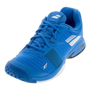 Juniors` Jet All Court Tennis Shoes Diva Blue and White