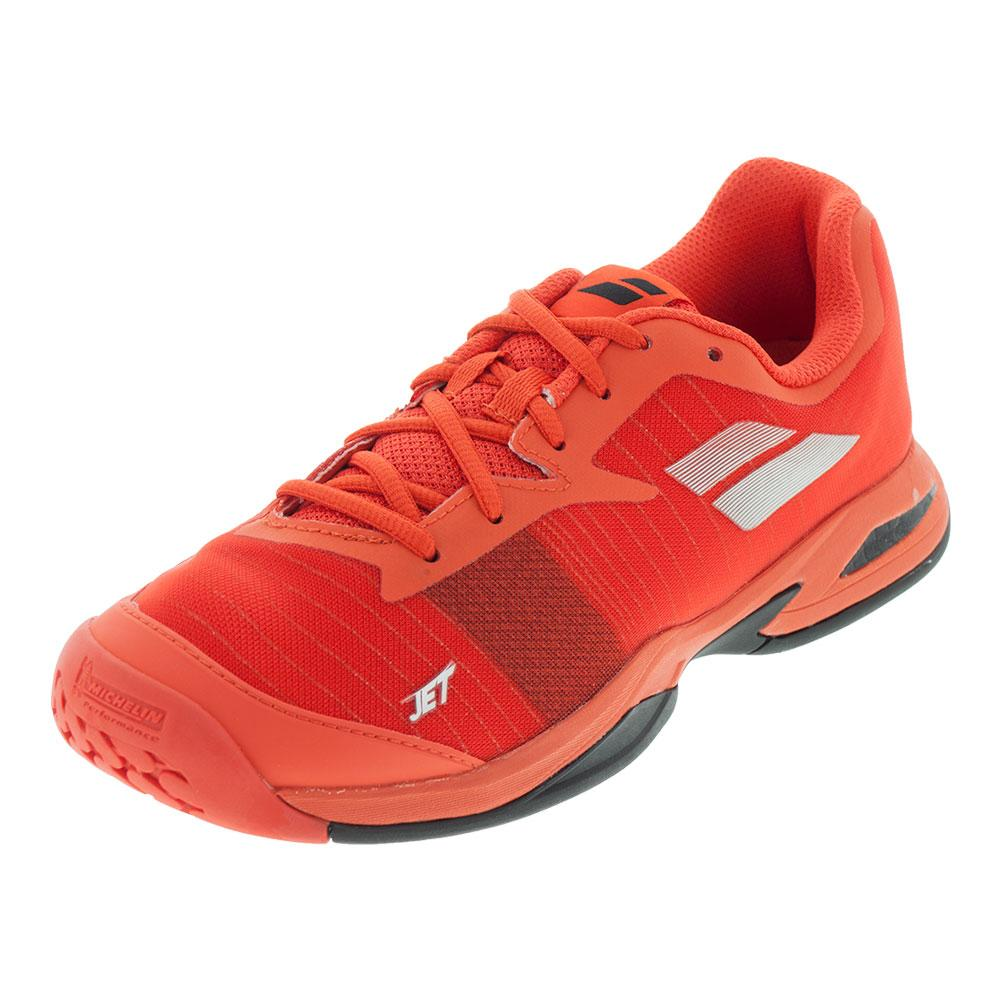 Juniors ` Jet All Court Tennis Shoes Orange