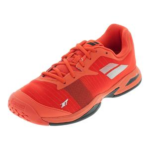 Juniors` Jet All Court Tennis Shoes Orange