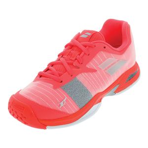 Juniors` Jet All Court Tennis Shoes Fandango Pink and Fluo Pink
