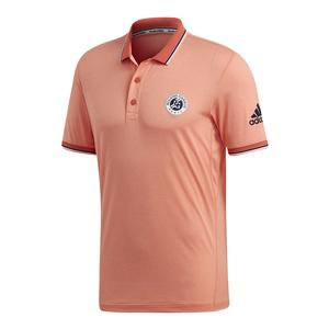 Men`s Roland Garros Tennis Polo Chalk Coral