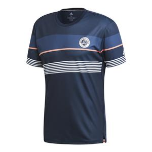 Men`s Roland Garros Tennis Tee Collegiate Navy