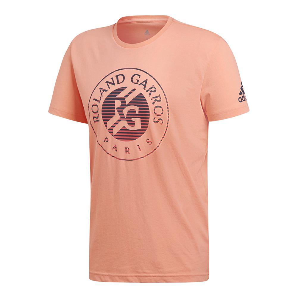 Men's Roland Garros Tennis Tee Chalk Coral