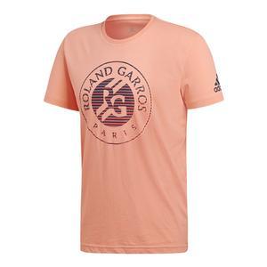 Men`s Roland Garros Tennis Tee Chalk Coral