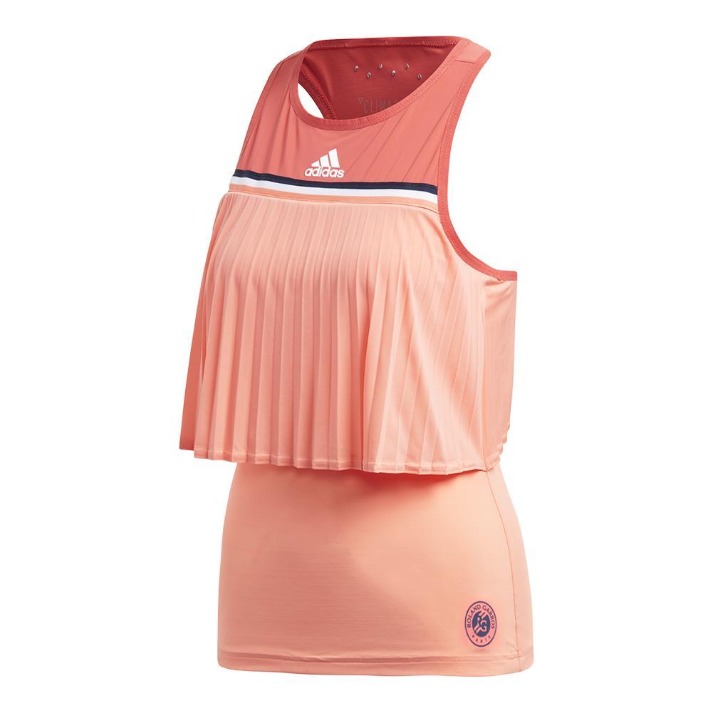 Women's Roland Garros Tennis Tank Chalk Coral