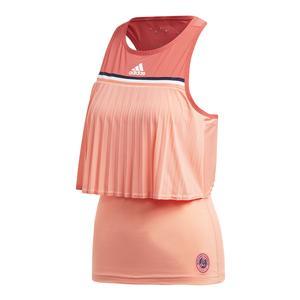 Women`s Roland Garros Tennis Tank Chalk Coral