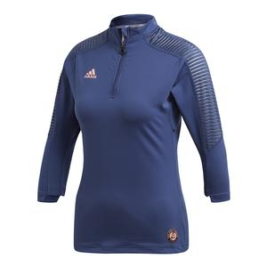 Women`s Roland Garros 3/4 Sleeve Tennis Top Noble Indigo